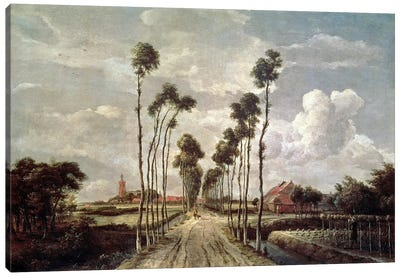 The Avenue at Middelharnis, 1689  Canvas Art Print