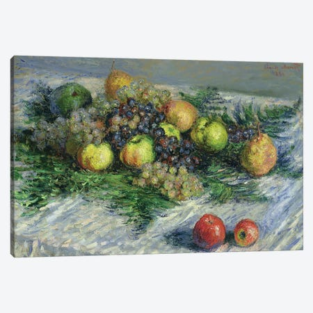Still Life with Pears and Grapes, 1880  Canvas Print #BMN1920} by Claude Monet Art Print
