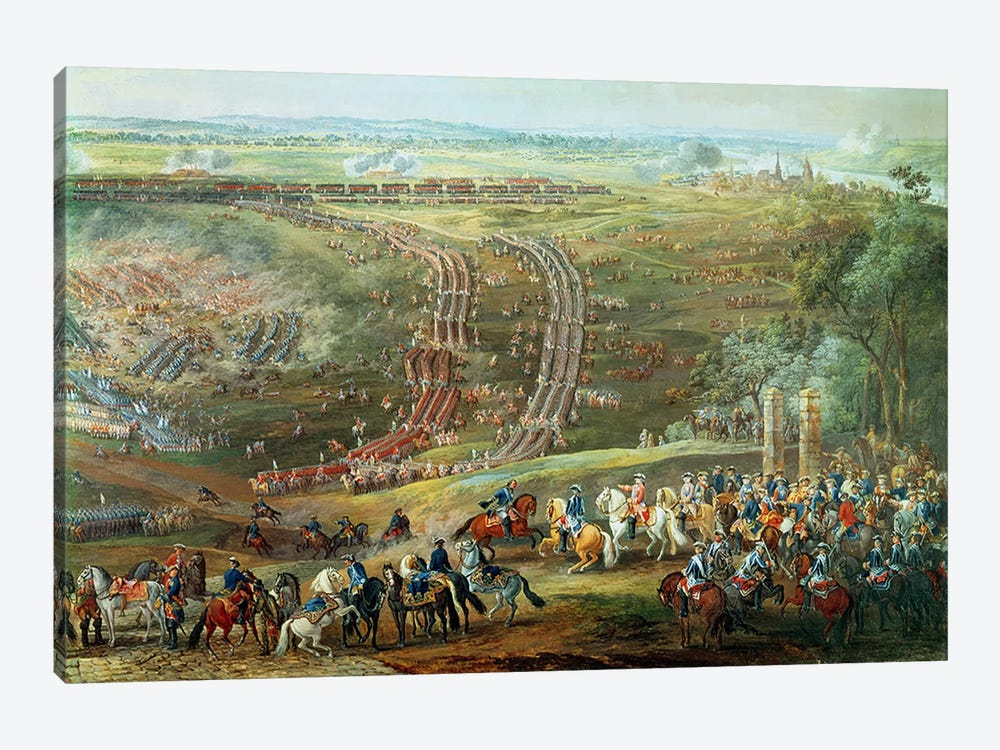 The Battle of Fontenoy, 11th May 1745 by Louis Nicolas van Blarenberghe 1-piece Canvas Art