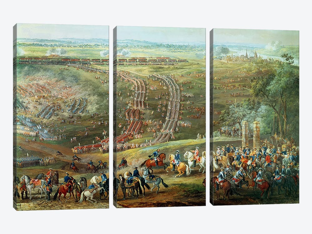 The Battle of Fontenoy, 11th May 1745 by Louis Nicolas van Blarenberghe 3-piece Canvas Art