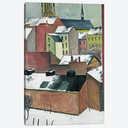 The Church of St Mary in Bonn in Snow, 1911  Canvas Print #BMN1924} by August Macke Canvas Wall Art