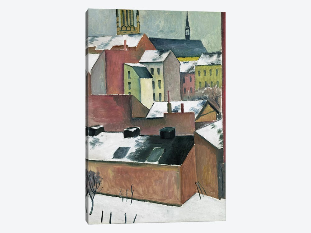 The Church of St Mary in Bonn in Snow, 1911  by August Macke 1-piece Canvas Print