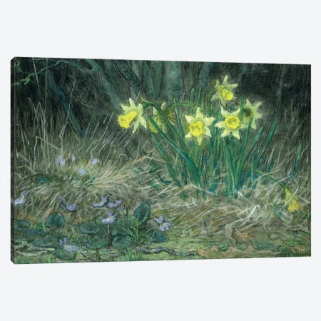 Narcissi and Violets, c.1867  Canvas Print #BMN1925} by Jean-Francois Millet Canvas Wall Art