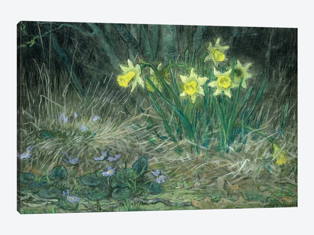 Narcissi and Violets, c.1867  by Jean-Francois Millet 1-piece Canvas Wall Art