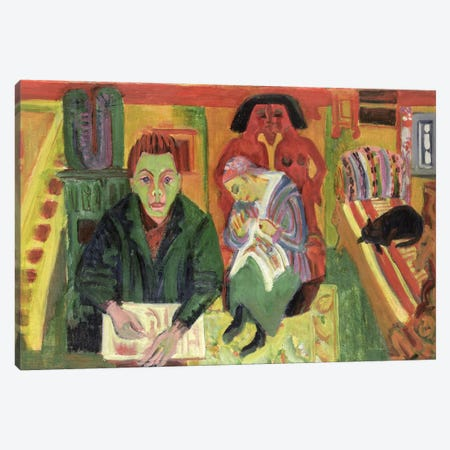 The Living Room, 1920  Canvas Print #BMN1931} by Ernst Ludwig Kirchner Canvas Art