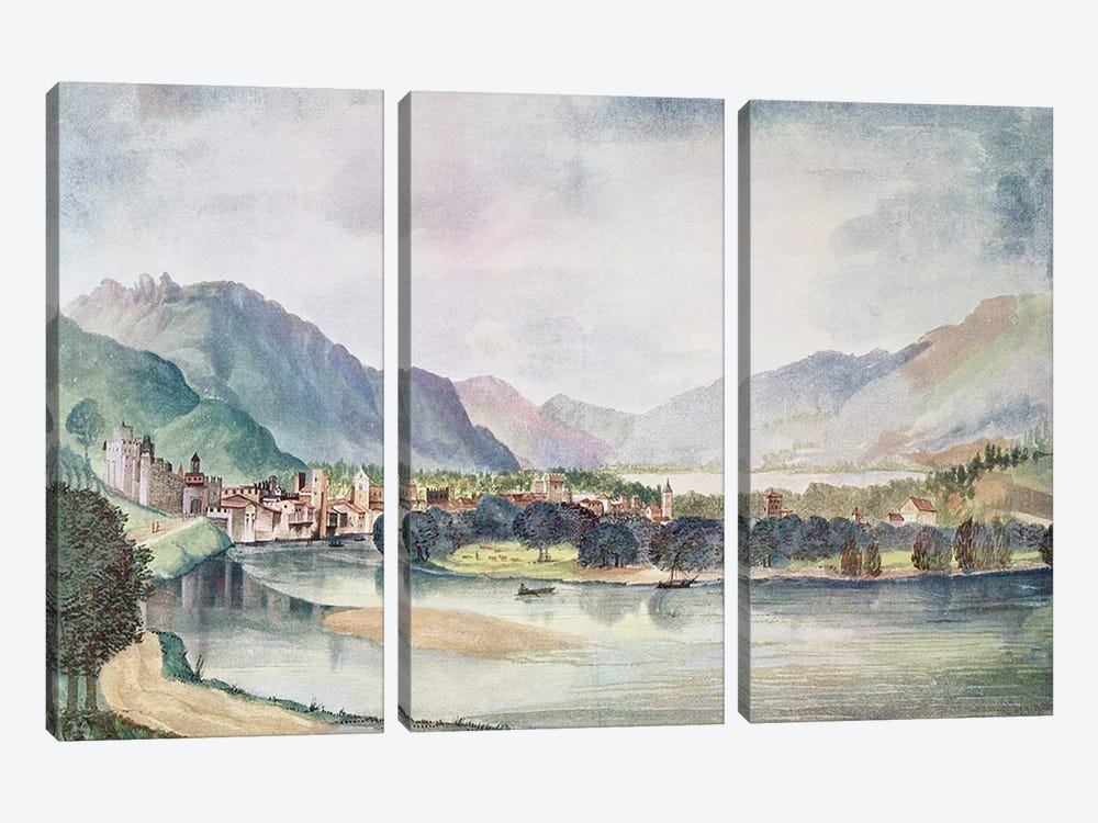 View of Trente, 1494 by Albrecht Dürer 3-piece Canvas Art Print