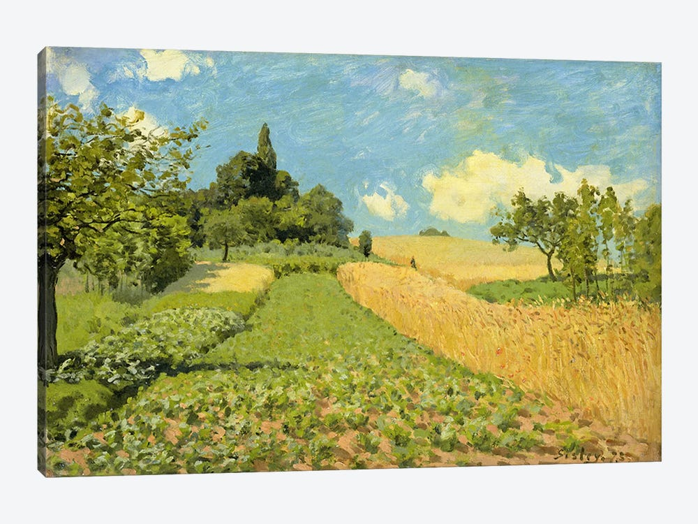 The Cornfield by Alfred Sisley 1-piece Canvas Art Print