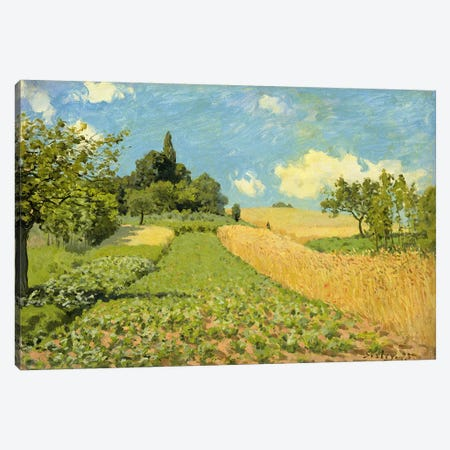 The Cornfield  3-Piece Canvas #BMN1935} by Alfred Sisley Canvas Art Print