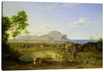 View over Palermo, 1828  Canvas Art Print