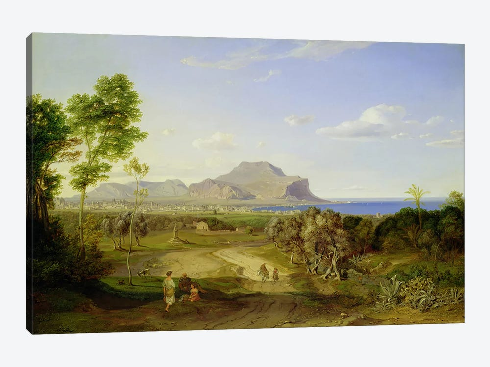 View over Palermo, 1828  by Carl Rottmann 1-piece Canvas Artwork