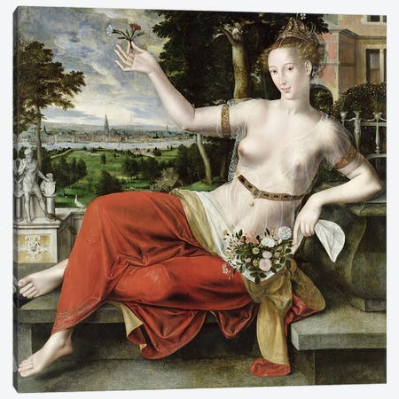 Flora, 1559   Canvas Print #BMN1939} by Jan Matsys Canvas Art