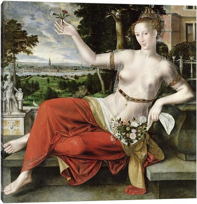 Flora, 1559   Canvas Art Print