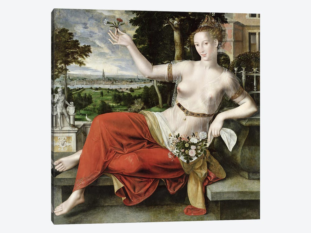 Flora, 1559 by Jan Matsys 1-piece Canvas Print