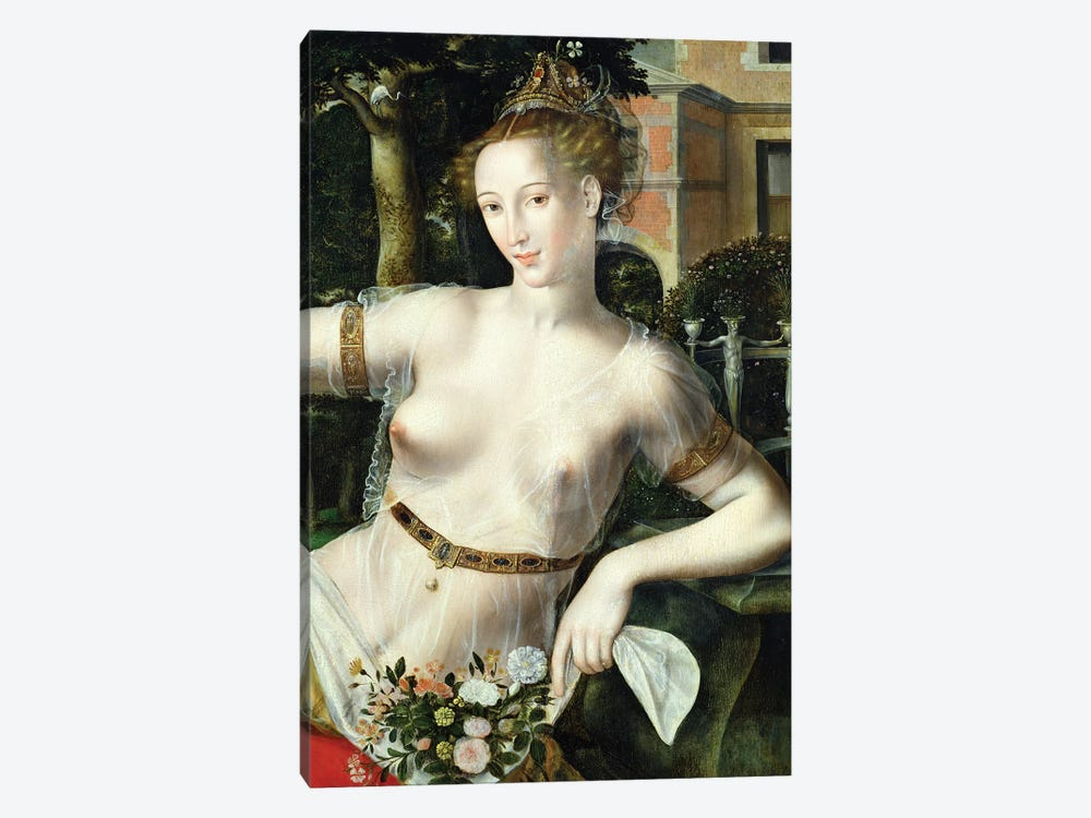 Detail of Flora, 1559   by Jan Matsys 1-piece Canvas Art Print