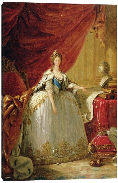 Portrait of the Duchess of Polignac  Canvas Art Print