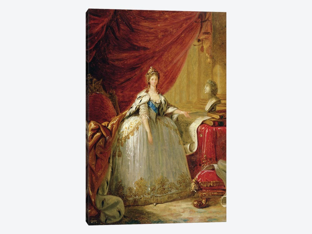 Portrait of the Duchess of Polignac  by Elisabeth Louise Vigee Le Brun 1-piece Canvas Wall Art