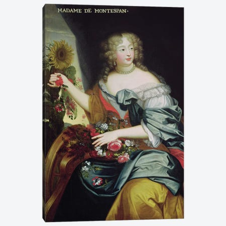 Portrait of Francoise-Athenaise Rochechouart de Mortemart  Canvas Print #BMN1946} by French School Canvas Wall Art