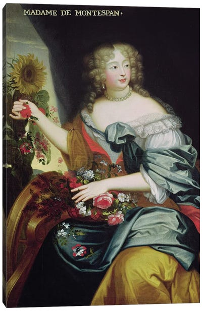 Portrait of Francoise-Athenaise Rochechouart de Mortemart  Canvas Art Print