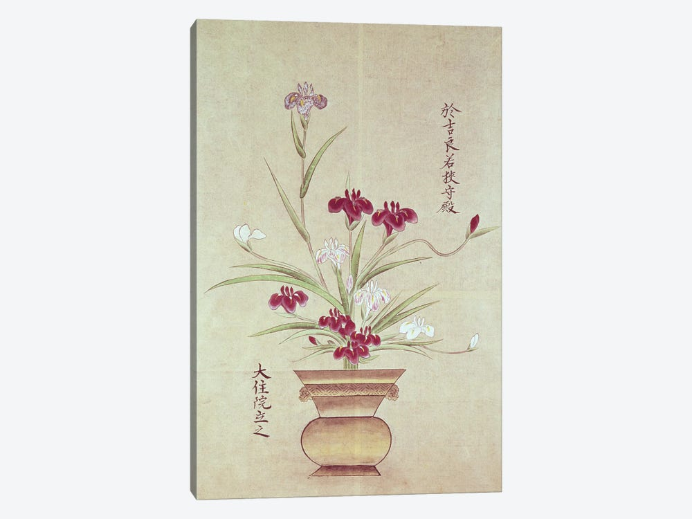 Orchids  by Japanese School 1-piece Canvas Print
