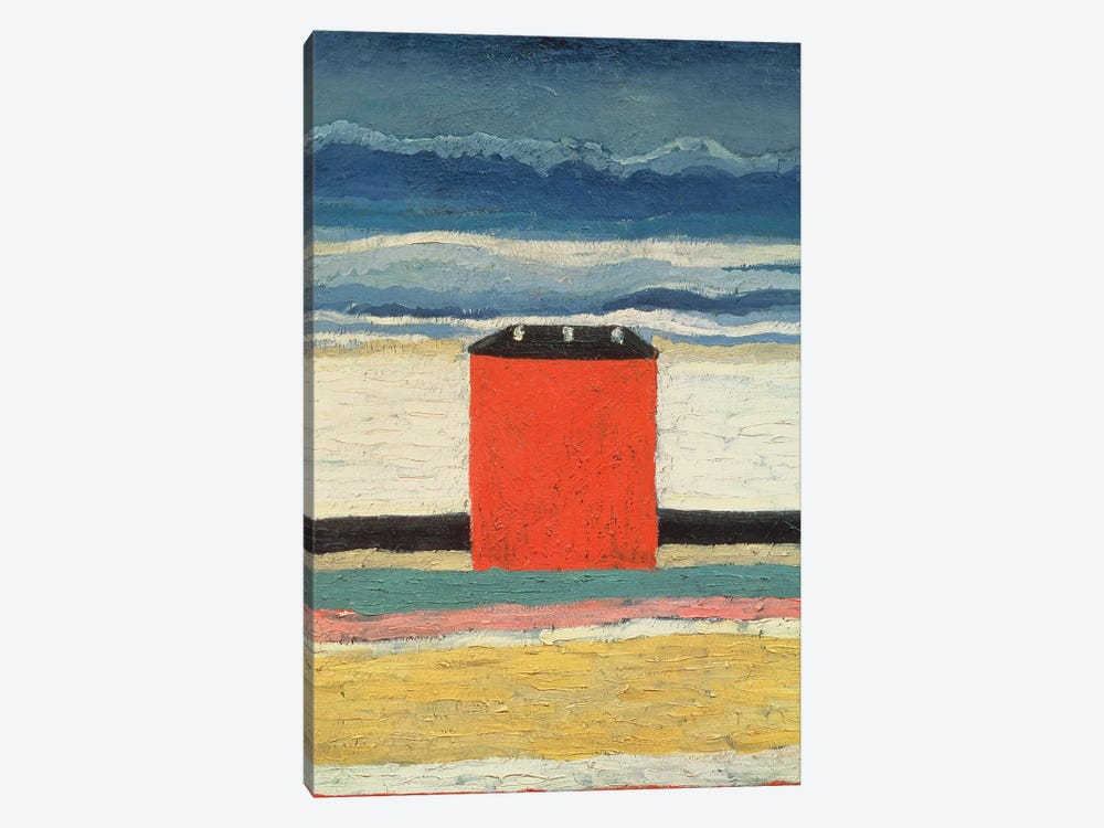 Red House, 1932  by Kazimir Severinovich Malevich 1-piece Canvas Art