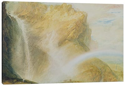 Upper Falls of the Reichenbach  Canvas Art Print