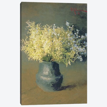 Wild Lilacs and Forget-Me-Nots, 1889  Canvas Print #BMN1963} by Isaak Ilyich Levitan Art Print