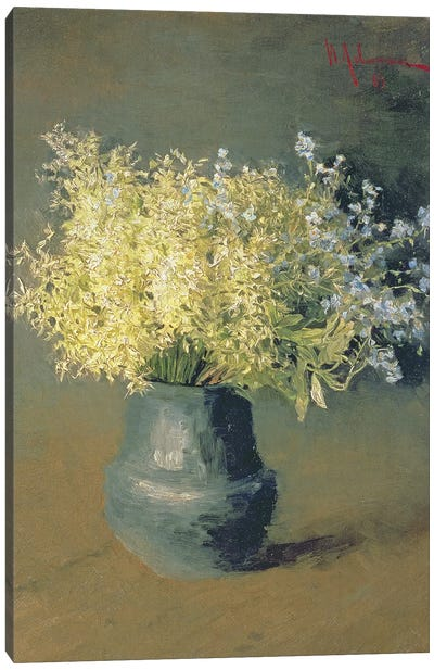 Wild Lilacs and Forget-Me-Nots, 1889  Canvas Art Print