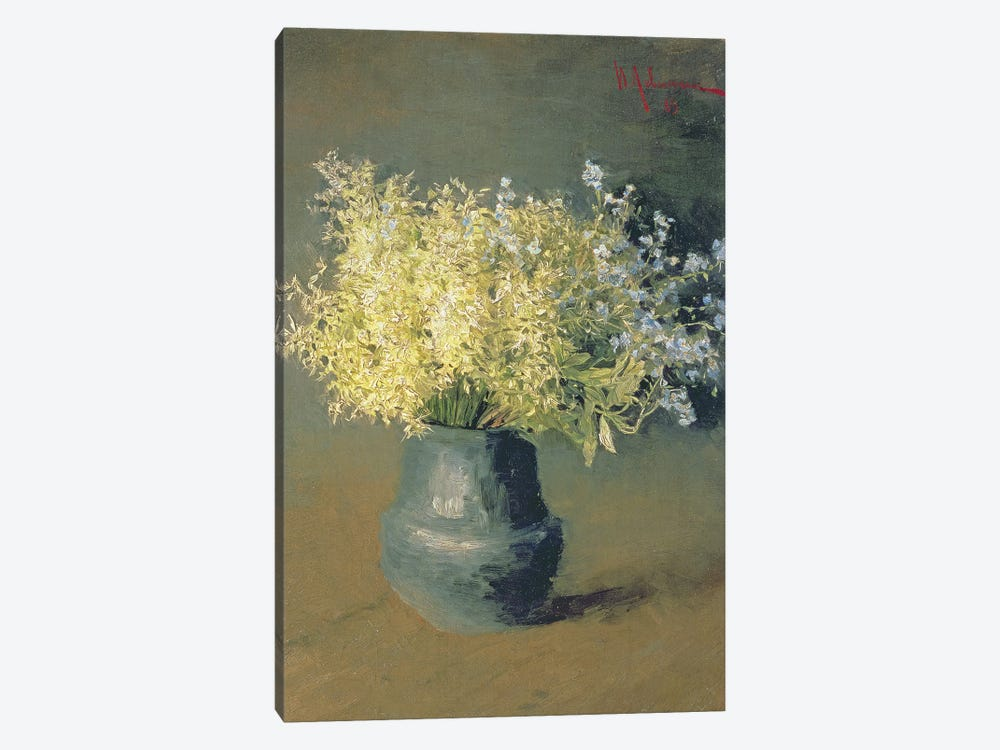 Wild Lilacs and Forget-Me-Nots, 1889  by Isaak Ilyich Levitan 1-piece Canvas Wall Art