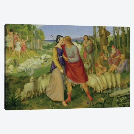 Jacob Meets Rachel, 1827  Canvas Print #BMN1965} by Erwin Speckter Canvas Artwork