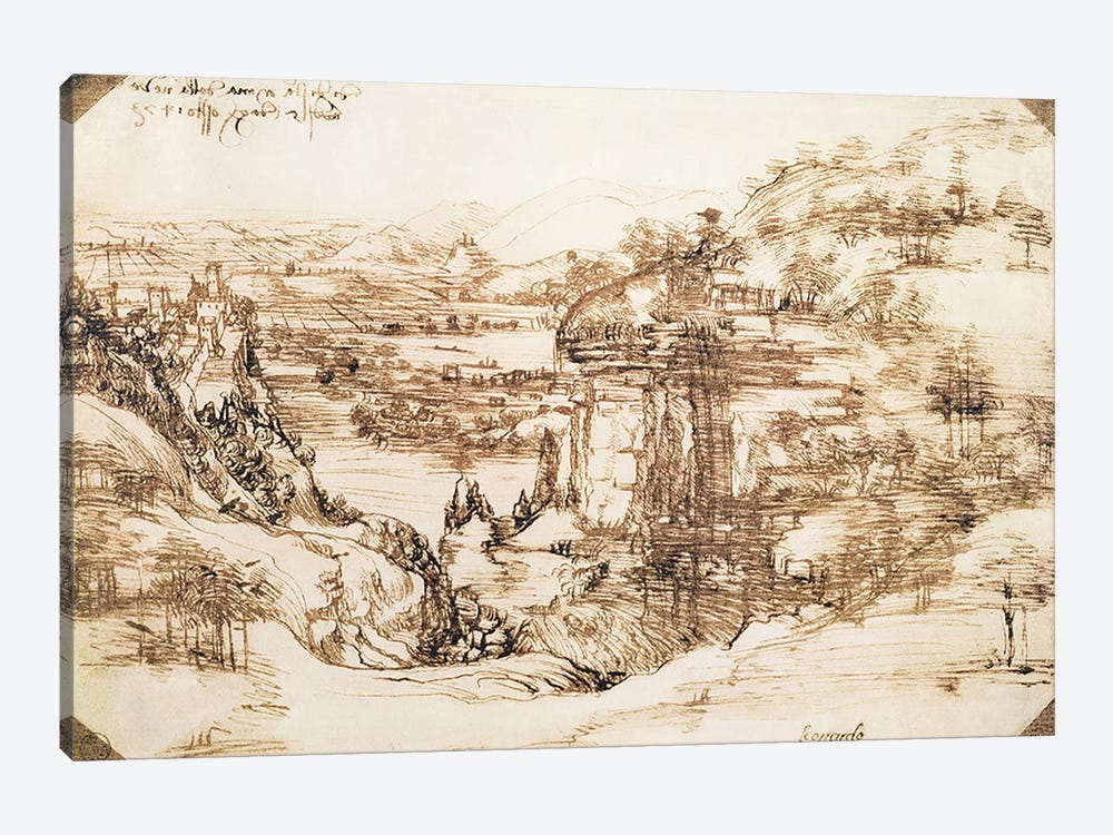 Arno Landscape, 5th August, 1473 1-piece Canvas Art