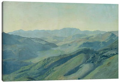 View of the countryside in the Tyrol, c.1842  Canvas Art Print