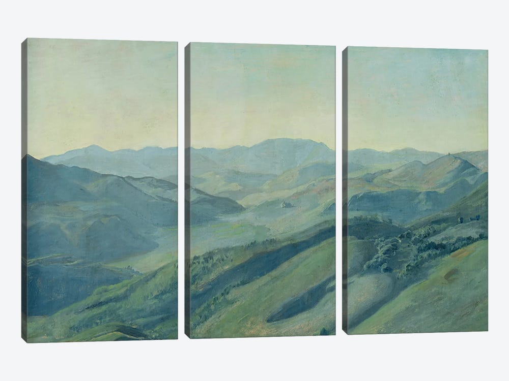 View of the countryside in the Tyrol, c.1842 by Rudolph Friedrich Wasmann 3-piece Canvas Wall Art