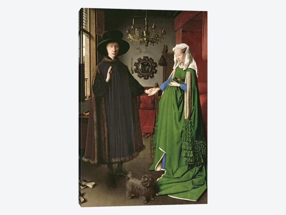The Portrait of Giovanni  by Jan van Eyck 1-piece Canvas Art Print