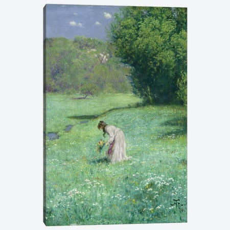 Woodland Meadow, 1876  Canvas Print #BMN1970} by Hans Thoma Canvas Art