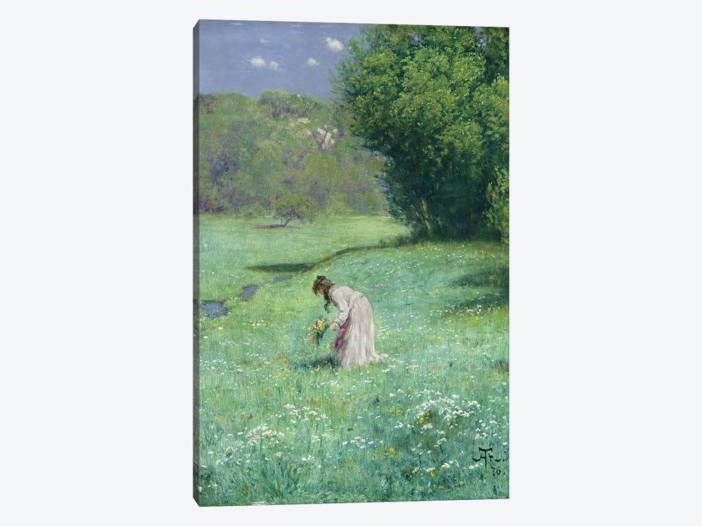 Woodland Meadow, 1876  by Hans Thoma 1-piece Canvas Art