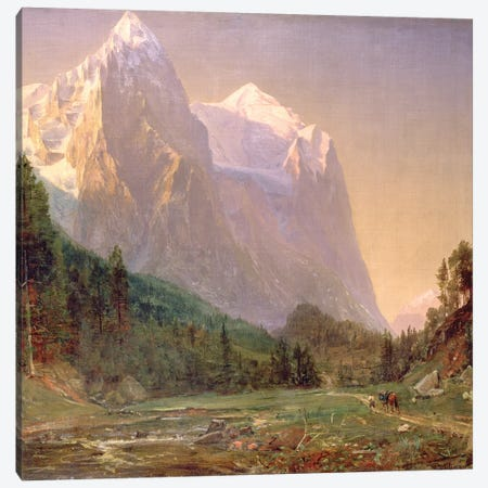 Sunrise on the Wetterhorn, 1858  Canvas Print #BMN1971} by Thomas Worthington Whittredge Canvas Art