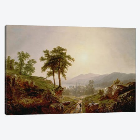 On the Path  Canvas Print #BMN1972} by John William Casilear Canvas Artwork