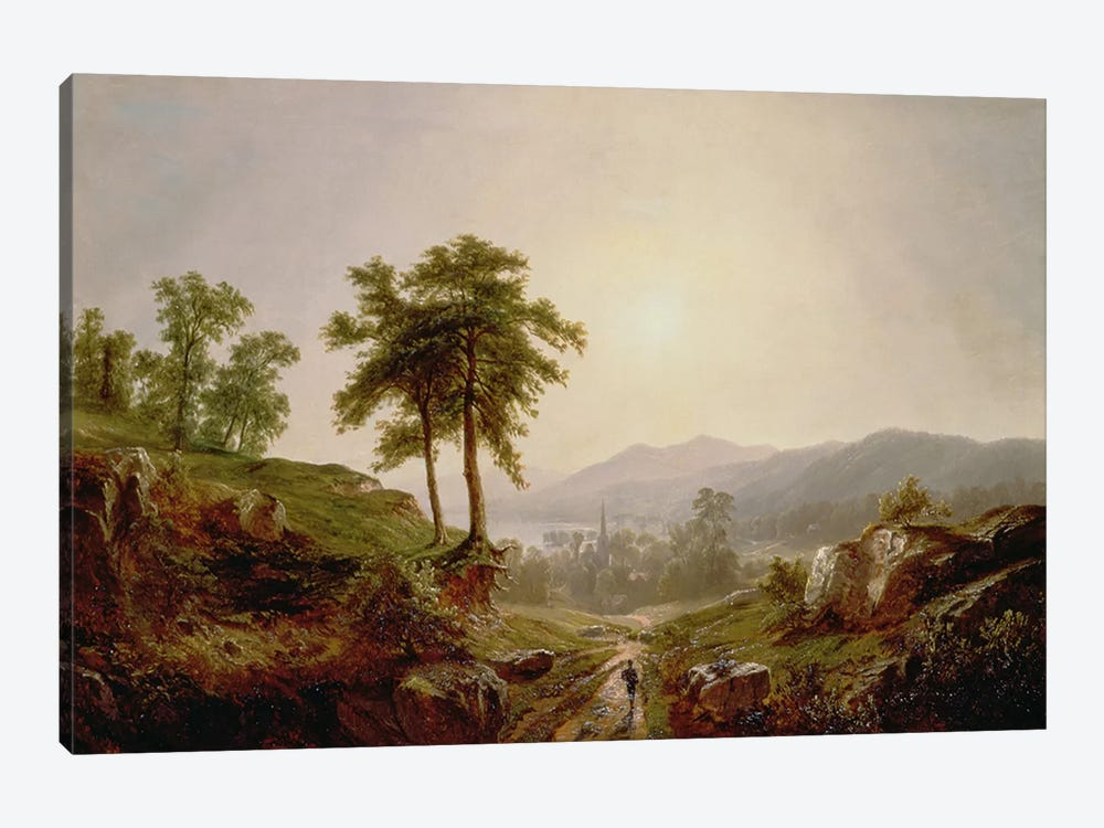 On the Path  by John William Casilear 1-piece Canvas Wall Art