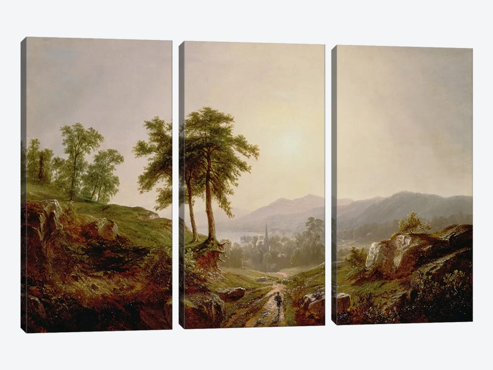 On the Path  by John William Casilear 3-piece Canvas Artwork