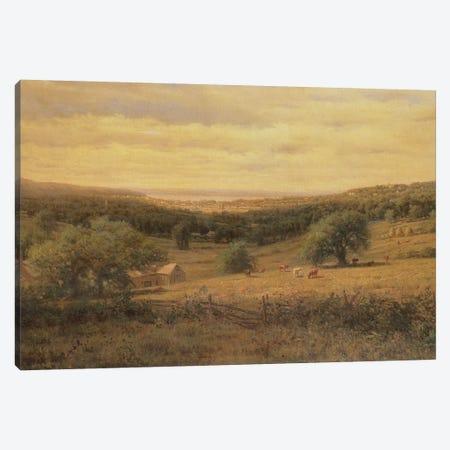Hudson River View  Canvas Print #BMN1973} by American School Canvas Wall Art