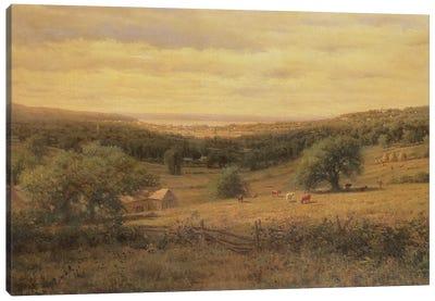 Hudson River View  Canvas Art Print