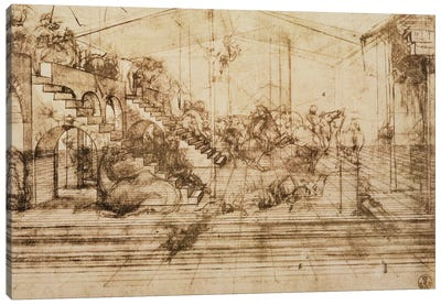 Perspective Study for the Background of The Adoration of the Magi  Canvas Art Print