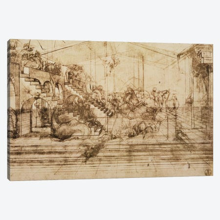 Perspective Study for the Background of The Adoration of the Magi  Canvas Print #BMN1975} by Leonardo da Vinci Art Print