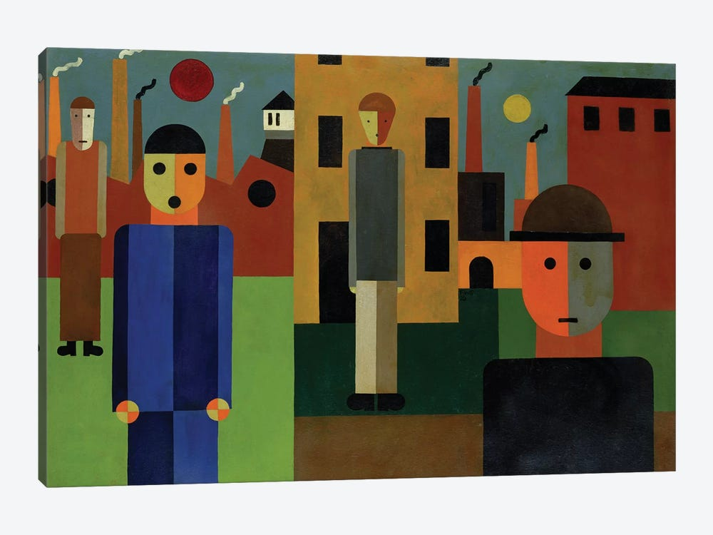 Factories, 1926  by Franz W. Seiwert 1-piece Art Print