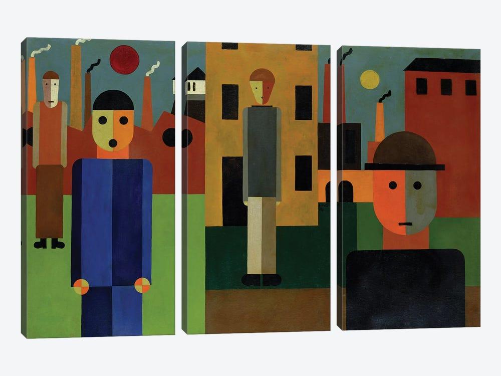 Factories, 1926  by Franz W. Seiwert 3-piece Canvas Art Print