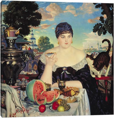 The Merchant's Wife at Tea, 1918 Canvas Art Print