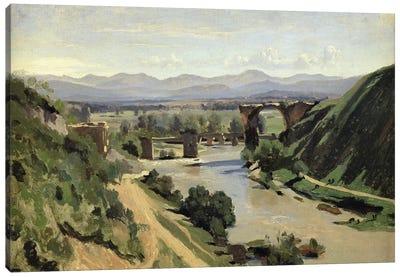 Narni, The Bridge of Augustus over the Nera  Canvas Art Print
