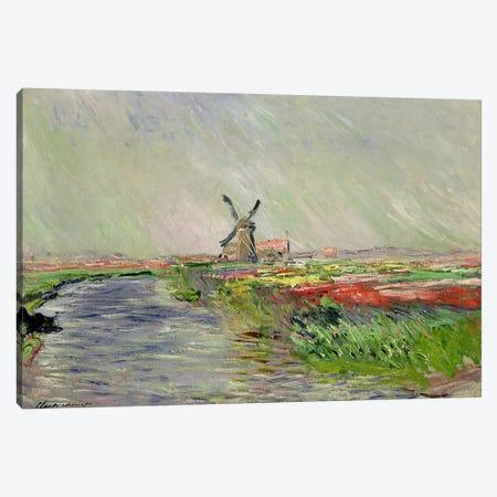Tulip Field in Holland  Canvas Print #BMN1983} by Claude Monet Canvas Print