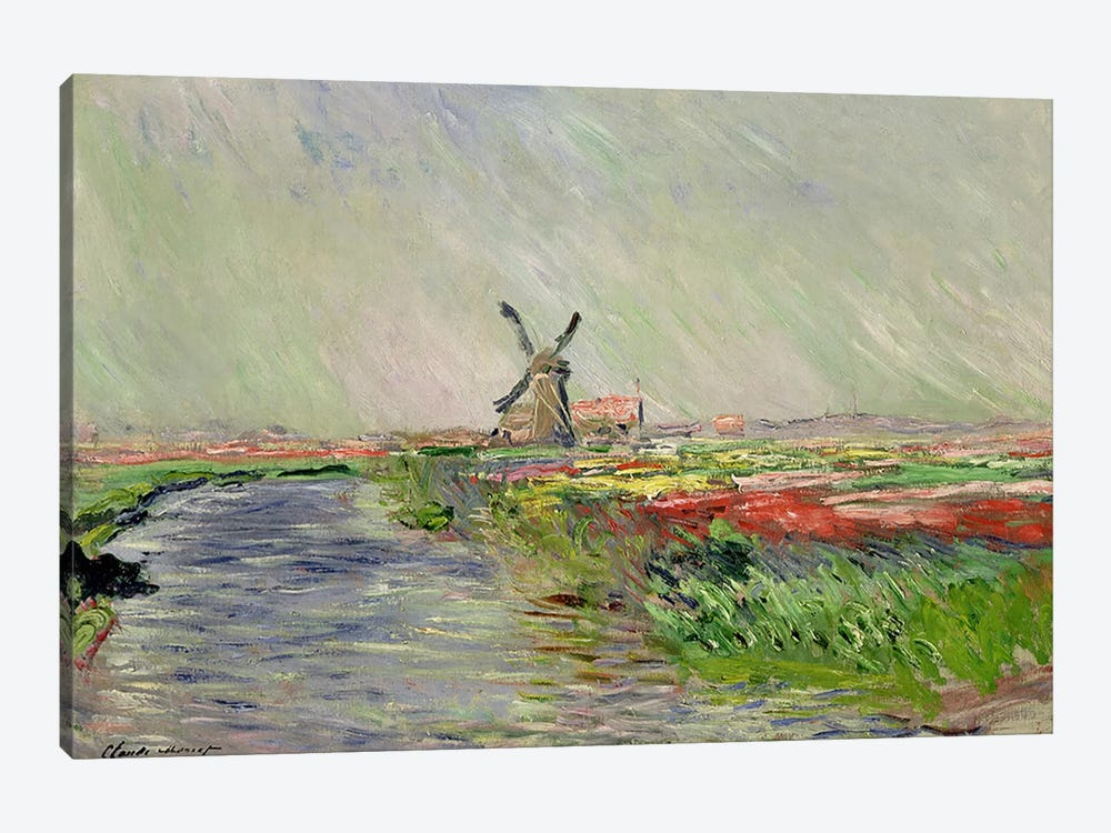 Tulip Field in Holland by Claude Monet 1-piece Canvas Art