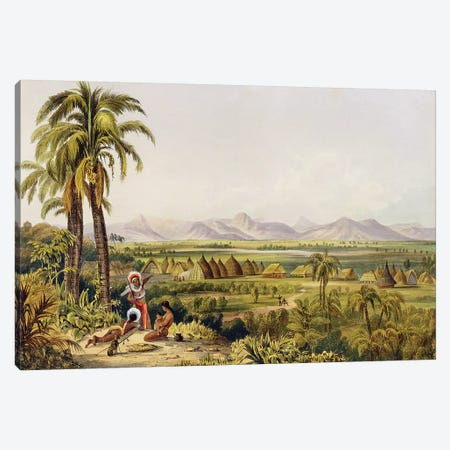 Pirara And Lake Amucu (The Site Of Eldorado), Twelve Views In The Interior Of Guiana, 1840 Canvas Print #BMN1990} by Charles Bentley Canvas Art
